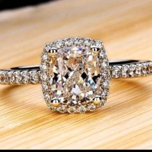 Brilliant .925 AAA 2CT Round Halo Solitaire